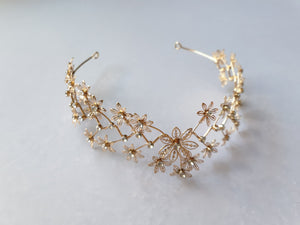 Diamante gold tone headband  - In Stock