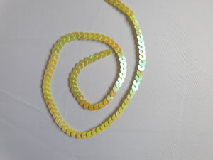 Yellow/green shimmer sequin trim - In Stock