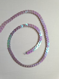 Lavender/blue shimmer sequin trim - In Stock