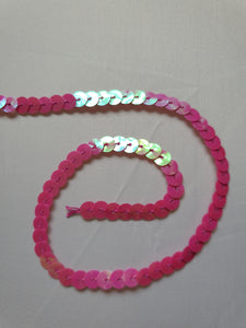 Bright pink sequin trim - In Stock