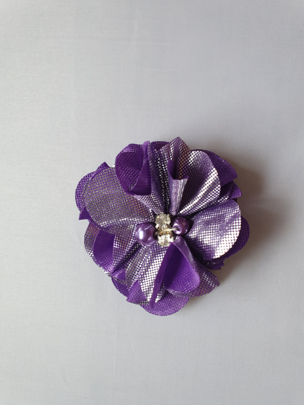 Purple/silver flower motif - In Stock