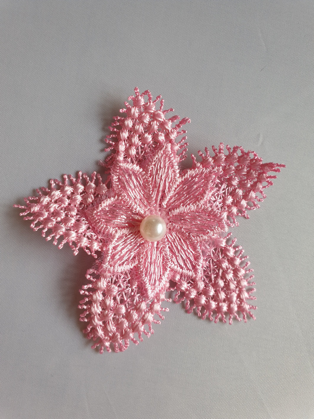 Pink pearl flower motif - In Stock