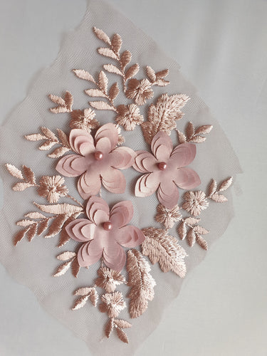 Pink flower motif - In Stock