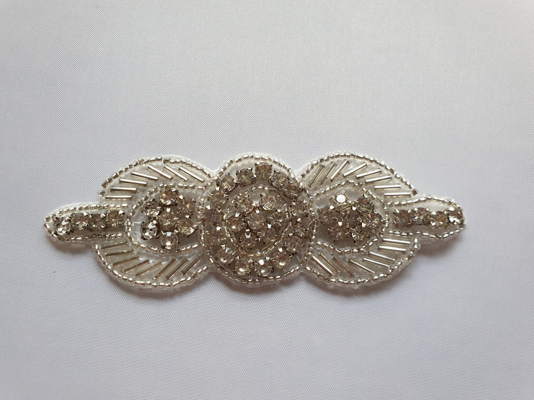 Silver beaded motif - In Stock