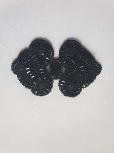 Black beaded motif - In Stock