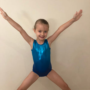 SALE - Blue Ombre 'Ava' Gymnastics Leotard - Girls 10 In Stock
