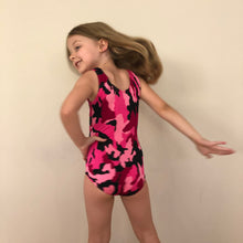 Load image into Gallery viewer, SALE - Pink Camoflage 'Ava' Gymnastics Leotard - Girls 4 In Stock