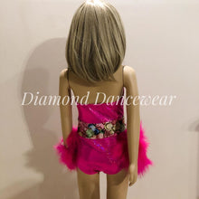 Load image into Gallery viewer, Girls Size 6 - Pink One Piece Dance Costume - In Stock