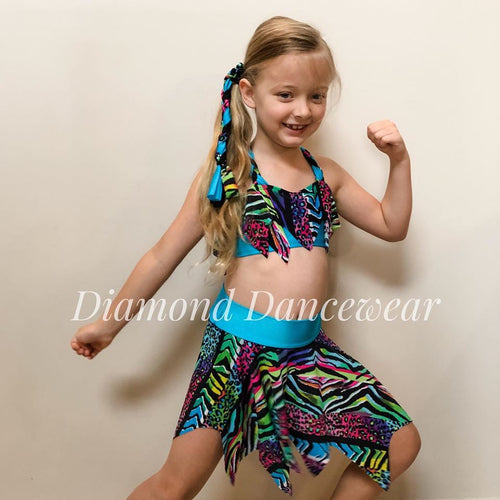 Girls Size 8 - Printed Two Piece - In Stock