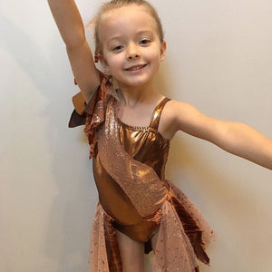 Girls size 6 - Copper Contemporary Dress - In Stock