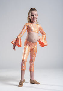 Girls size 6 -  Two Piece 70's Jazz Costume  - In Stock