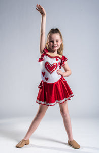 Girls size 6 - Red Queen of Hearts Dance Costume - In Stock