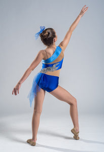 Adorable Blue and Silver Lyrical Dance Costume