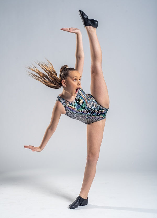 Sublime Black and Silver Leotard - Childs 12 In Stock