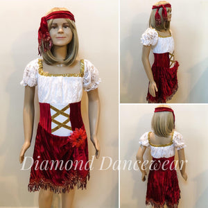Girls Size 10 - Gypsy Dance Costume - In Stock