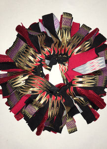Black, red and gold Cheer Scrunchie - In Stock