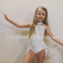 Load image into Gallery viewer, Girls Size 6 - White and Silver Lyrical Dance Costume - In Stock