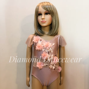Girls size 4- Dusty Pink Dance Costume - In Stock