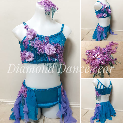 Girls Size 10 - Lyrical Two Piece Dance Costume - In Stock