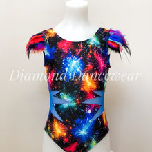 Load image into Gallery viewer, Fireworks and Feathers Leotard - Girls 10 In Stock