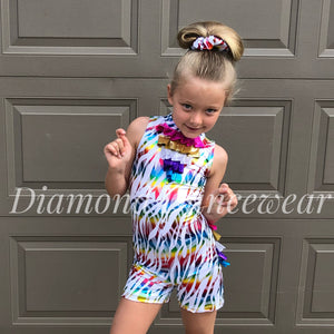 Rainbow Unitard Jazz Dance Costume