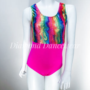Rainbow Dance or Gymnastics Leotard - Multiple Sizes Available