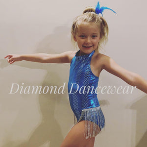 Girls Size 6 - Turquoise Jazz or Tap Dance Costume - In Stock