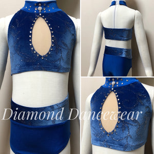 Girls size 4- Two Piece Dance Costume - In Stock