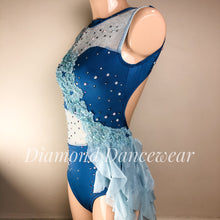 Load image into Gallery viewer, Adult Size 10 - Blue Lyrical Dance Costume - In Stock