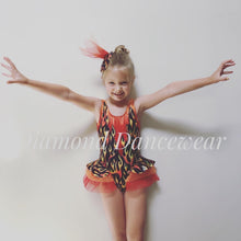 Load image into Gallery viewer, Girls Size 8 - Flame Dance Costume - In Stock