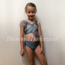 Load image into Gallery viewer, Girls Size 6 - Grey Lyrical Dance Costume - In Stock