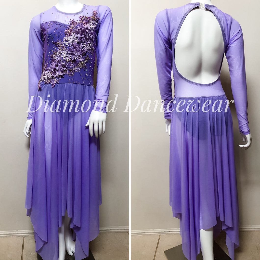 Adult Size 8 - Lilac Dance Costume - In Stock