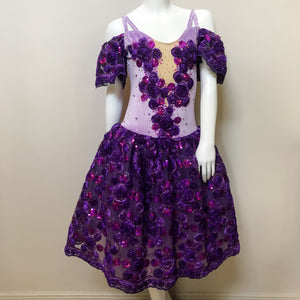 Adult Size 8 - Stunning Lilac and Purple Romantic Tutu - In Stock