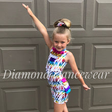Load image into Gallery viewer, Rainbow Unitard Jazz Dance Costume
