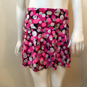 SALE - Pink, White, Silver and Black Flip Skirt