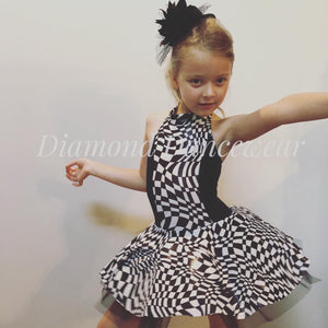 Girls size 6 - Black and White Dance Costume - In Stock