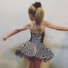 Load image into Gallery viewer, Girls size 6 - Black and White Dance Costume - In Stock
