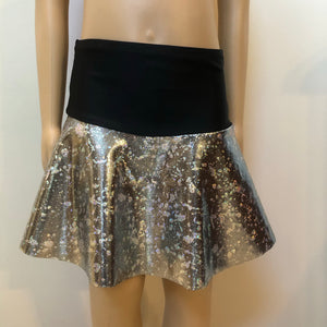 SALE - Silver and Black Flip Skirt