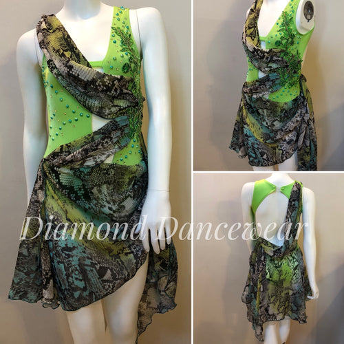 Girls Size 12 - Green Lyrical or Contemporary Dance Costume - In Stock