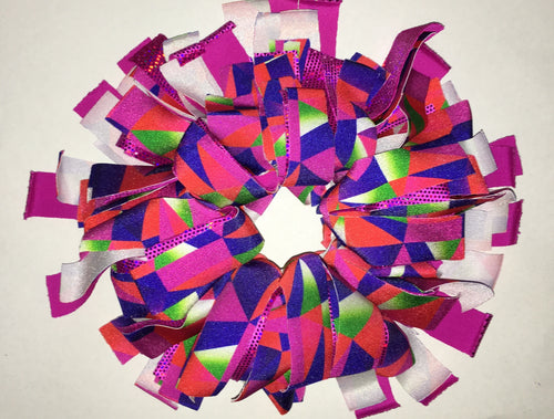Pink, purple, red and green Cheer Scrunchie - In Stock