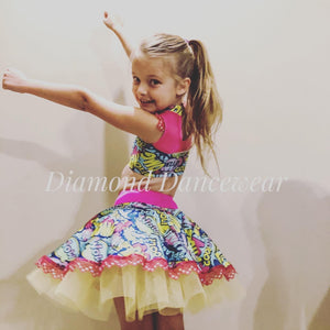 Girls size 6 -  Crop Top and Tutu Skirt - In Stock