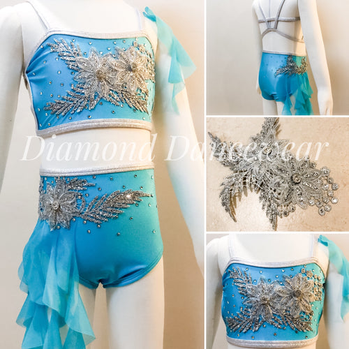 Girls size 4- Two Piece Lyrical Dance Costume - In Stock