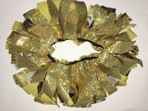 Gold Cheer Scrunchie - In Stock
