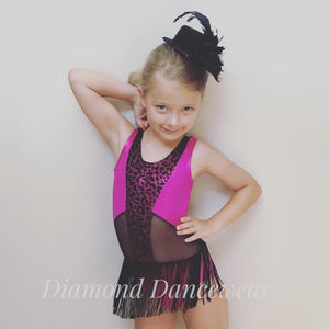 Girls Size 6 - Pink and Black Jazz or Tap Dance Costume