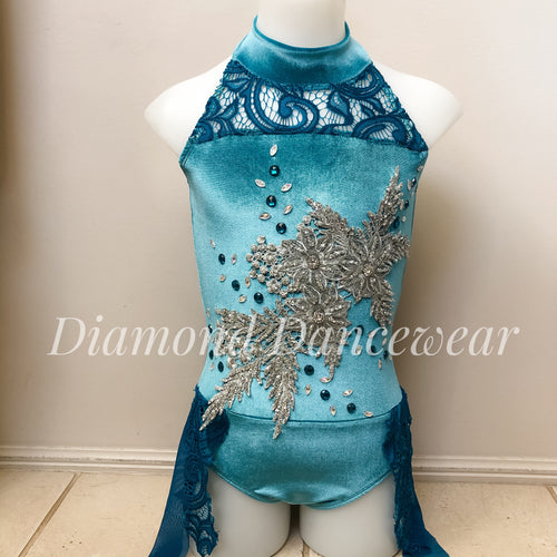 Girls Size 8 - Stunning Velvet and Lace Dance Costume - In Stock