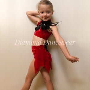 Girls Size 8 - Two Piece Velvet Dance Costume - In Stock