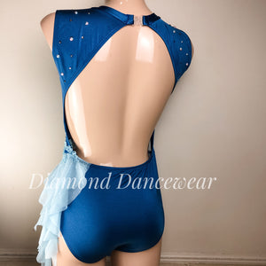 Adult Size 10 - Blue Lyrical Dance Costume - In Stock