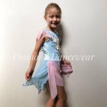Load image into Gallery viewer, Girls Size 8 - Pastel Pink & Blue Lyrical Costume - In Stock