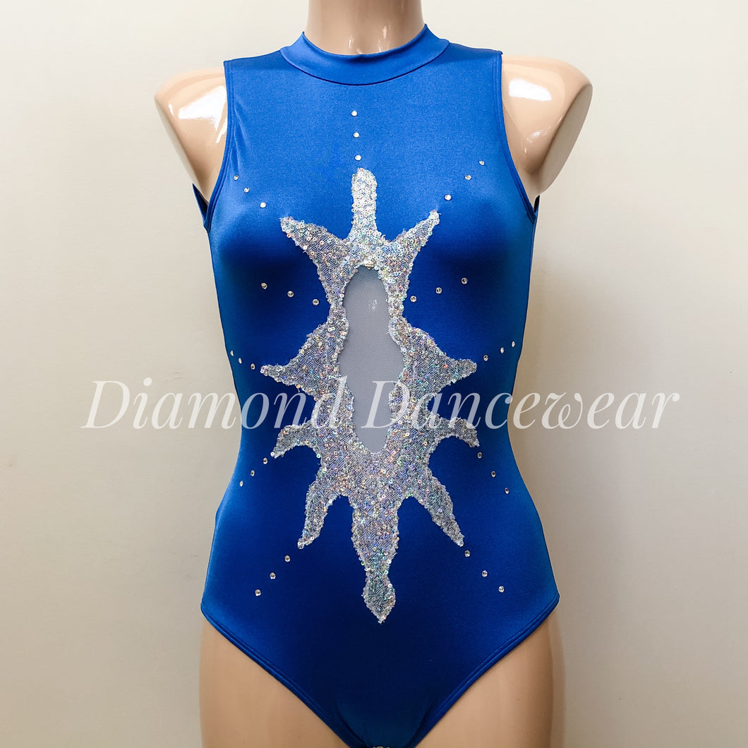 Girls Size 12 - Blue and Silver Dance Costume - In Stock