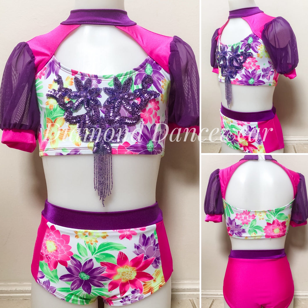 Girls Size 8 - Cute Carnival Style Dance Costume - In Stock